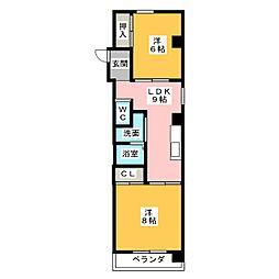 愛知県名古屋市南区城下町3丁目の賃貸マンションの間取り
