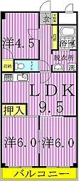 第3千代田マンション[408号室]の間取り