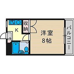 芥川マンション[1階]の間取り