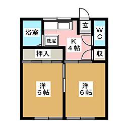 奥崎荘[2階]の間取り