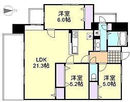 サーパス笹沖一番館[5階]の間取り