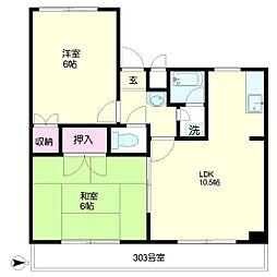 東京都武蔵野市境南町4丁目の賃貸マンションの間取り
