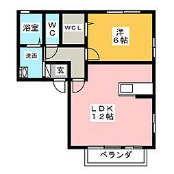 コルティーレ[2階]の間取り