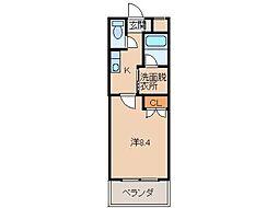 ル・マンA2番館[1階]の間取り