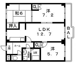 ココ川崎[203号室号室]の間取り