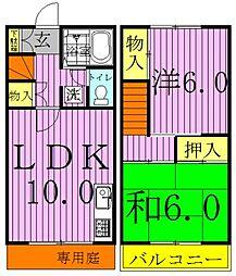 [テラスハウス] 千葉県柏市豊住5丁目 の賃貸【/】の間取り