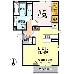 長野県長野市大字東和田の賃貸アパートの間取り