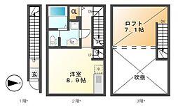 Common Tree名駅西(コモンツリー)[2階]の間取り