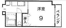 サンハイム橋本[202号室号室]の間取り