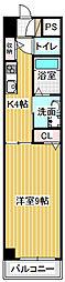 愛知県名古屋市港区八百島1丁目の賃貸マンションの間取り