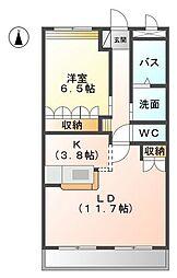ミロワール赤坪[3階]の間取り