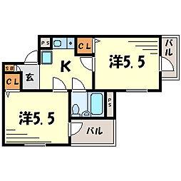 立花壱番館[3階]の間取り