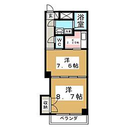 サンハイツVII[5階]の間取り