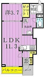 ブルックパレス[1階]の間取り