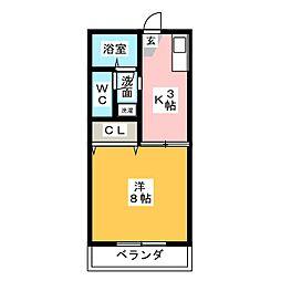 メイゾン美田[1階]の間取り