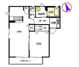 グリーンガーデンA棟[1階]の間取り