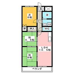 オーキッドマンション笠寺[3階]の間取り