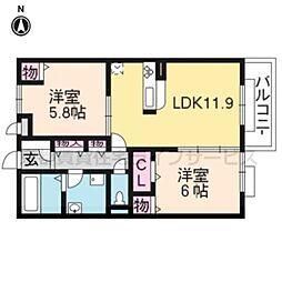 コンフォールZEN W棟[2階]の間取り