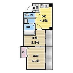 ワイズコンフォート[4階]の間取り
