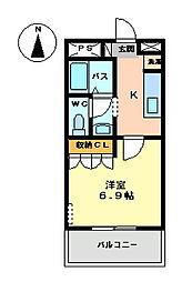 ザ・ワールド[2階]の間取り