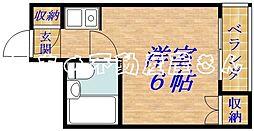 ジュネス関目[2階]の間取り