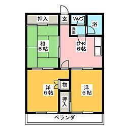 宝ヶ丘レジデンス[3階]の間取り