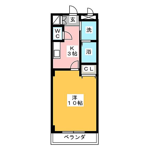 本州ビルⅢ[2階]の間取り