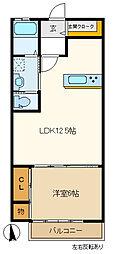エールメゾン2 203[2階]の間取り