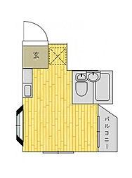 神奈川県川崎市麻生区細山2丁目の賃貸マンションの間取り