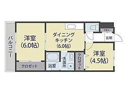 シャトー麻布[3階]の間取り