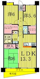 INSURANCE BLDG.8[3階]の間取り