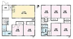 上菅田ハウス 2階7LDKの間取り