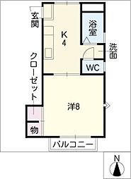 URBAN・TAMII[2階]の間取り
