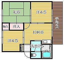 サンモリックA棟[2階]の間取り