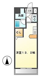 アヴニール白壁[4階]の間取り