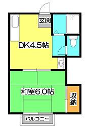YAMAZAKI3[3階]の間取り