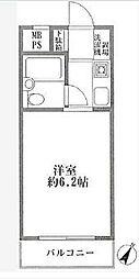 東京都目黒区目黒本町3の賃貸マンションの間取り