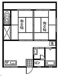 落合アパート[7号室]の間取り
