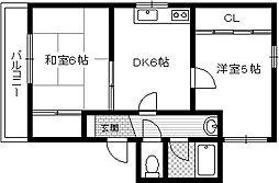 アザリア21[1階]の間取り