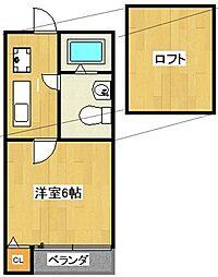 プランドール更屋敷[203号室]の間取り