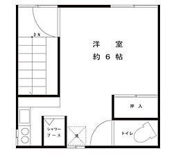 陳アパート[2階号室]の間取り
