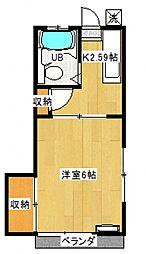 エクセレント内田[103号室号室]の間取り