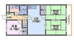 ニューシャトー長岡[306号室]の間取り