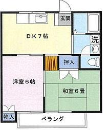 コーポミキ[1階]の間取り