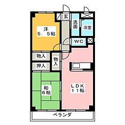 エトワール旭[4階]の間取り