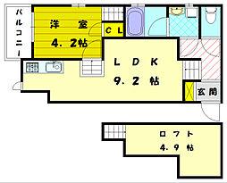 アルヴィータ福津中央[2階]の間取り