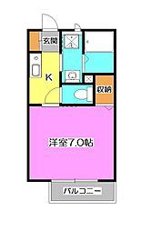 埼玉県入間市東藤沢2丁目の賃貸アパートの間取り