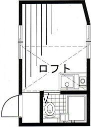 東京都北区滝野川5丁目の賃貸アパートの間取り