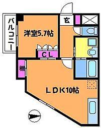 クレシアコート[1階]の間取り