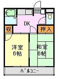 小川荘[201号室]の間取り